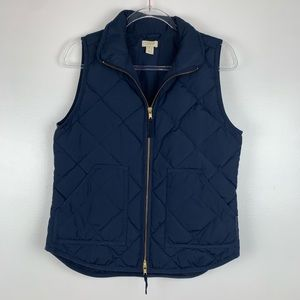 J. Crew Factory Navy Quilted Puffer Vest K3526